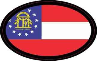 Oval Georgia State Flag Sticker