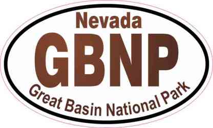 Oval Great Basin National Park Sticker