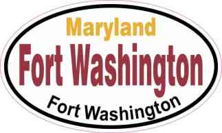Oval Fort Washington Sticker