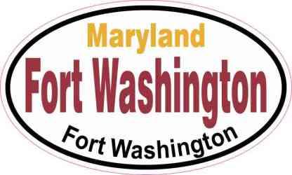 Oval Fort Washington Sticker
