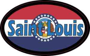 Oval Missouri Flag Saint Louis Sticker