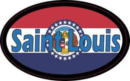 Oval Missouri Flag Saint Louis Sticker