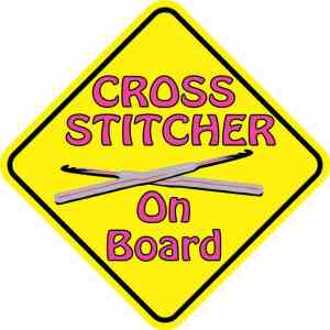 Cross Stitcher On Board Magnet