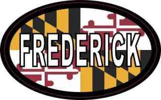 Oval Maryland Flag Frederick Sticker