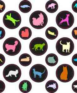 Colorful Cat Camera Dots®