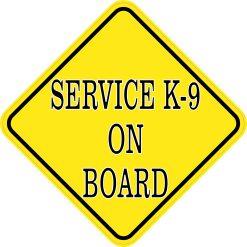 Service K-9 on Board Sticker