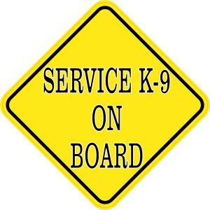Service K-9 On Board Magnet
