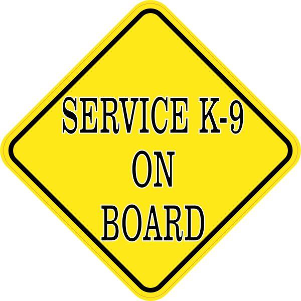 Service K-9 On Board Magnet