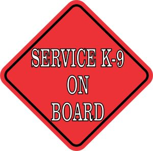 Red Service K-9 on Board Magnet