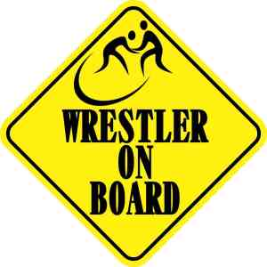 Wrestler On Board Magnet