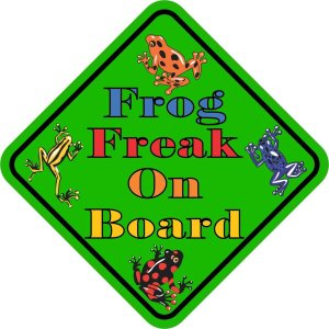 Frog Freak On Board Magnet