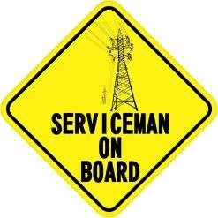 Serviceman On Board Magnet