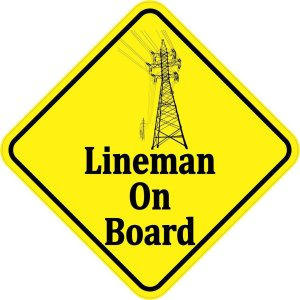 Lineman On Board Magnet