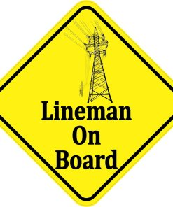 Lineman On Board Magnet
