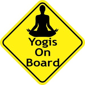 Yogis On Board Magnet