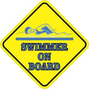 Swimmer On Board Magnet