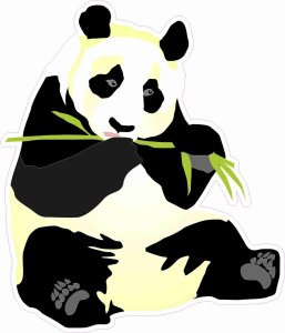Right-Facing Panda Sticker