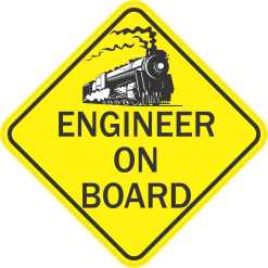 Train Engineer On Board Magnet