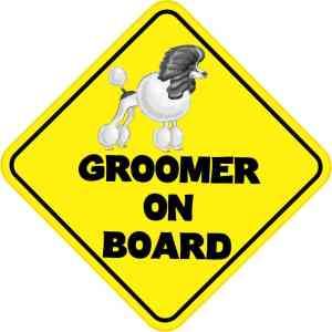 Groomer On Board Sticker