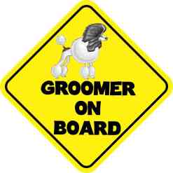 Groomer On Board Magnet