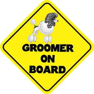 Groomer On Board Magnet