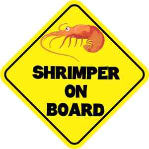 Shrimper On Board Magnet