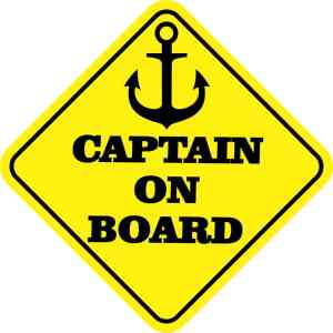 Captain on Board Sticker