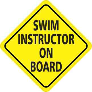 Swim Instructor On Board Magnet