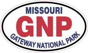 Oval Gateway National Park Sticker