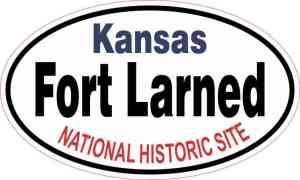 Oval Fort Larned National Historic Site Sticker