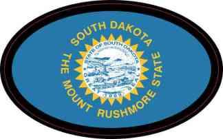 Oval South Dakota Flag Sticker