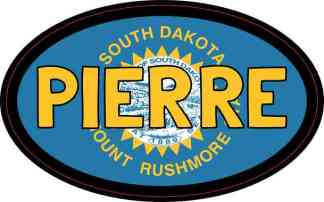 Oval South Dakota Flag Pierre Sticker
