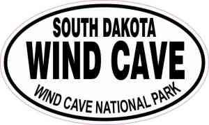 Oval Wind Cave National Park Sticker