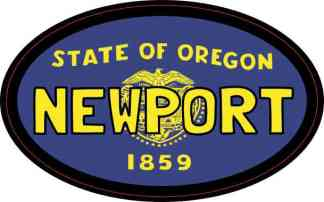 Oval Oregon Flag Newport Sticker