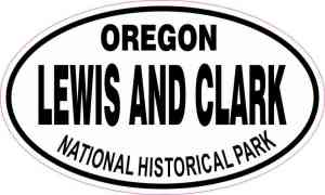 Oval Lewis and Clark National Historic Park Sticker