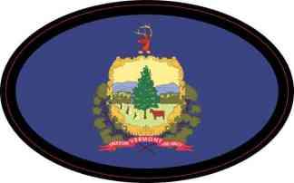 Oval Vermont Flag Sticker