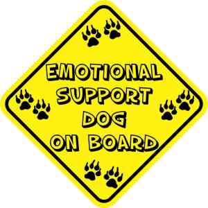 Emotional Support Dog On Board Magnet