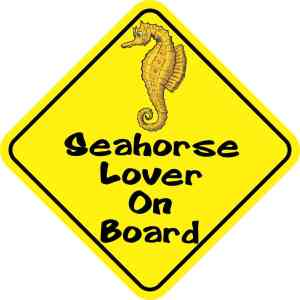 Seahorse Lover On Board Sticker