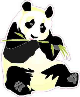 Right-Facing Panda Sticker
