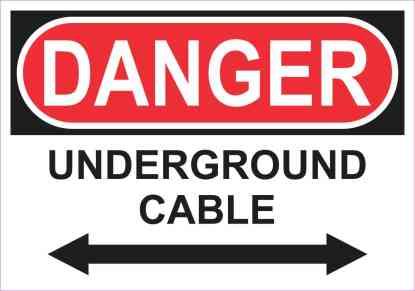 Danger Underground Cable Sticker