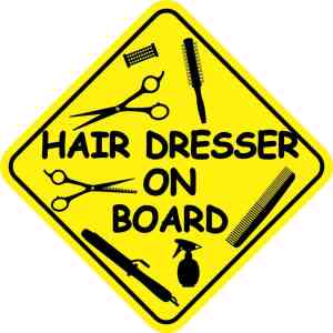 Hair Dresser On Board Magnet