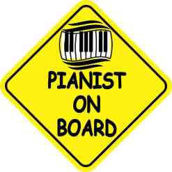 Pianist On Board Sticker