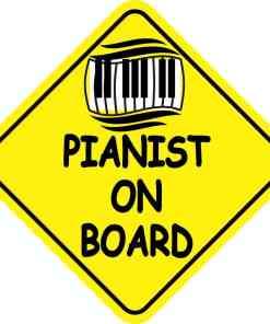 Pianist On Board Magnet