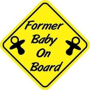 Former Baby On Board Sticker