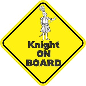 Knight On Board Sticker