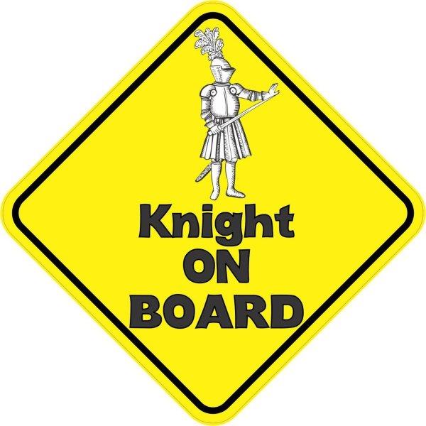 Knight On Board Sticker