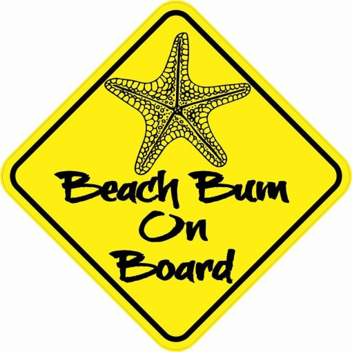 Beach Bum On Board Sticker