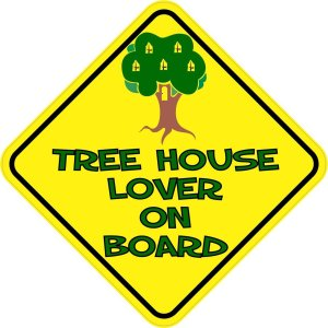 Tree House Lover On Board Magnet
