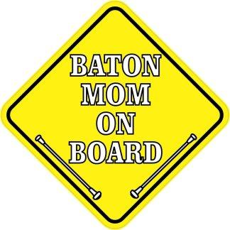 Baton Mom On Board Magnet