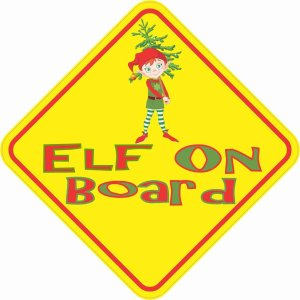 Elf On Board Magnet